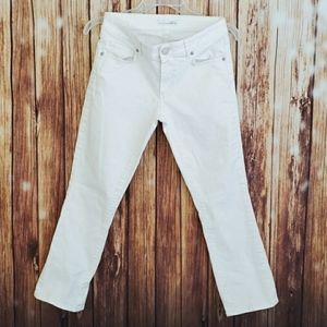 Loft Jeans 25 White Cropped